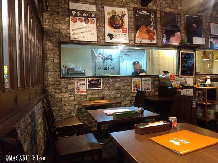 津の田ミート茨木店のハンバーグ調理写真