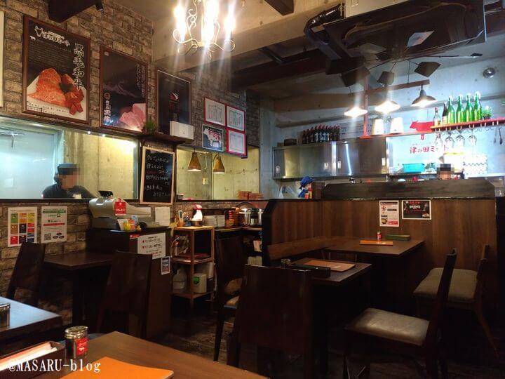 津の田ミート茨木店の店内風景
