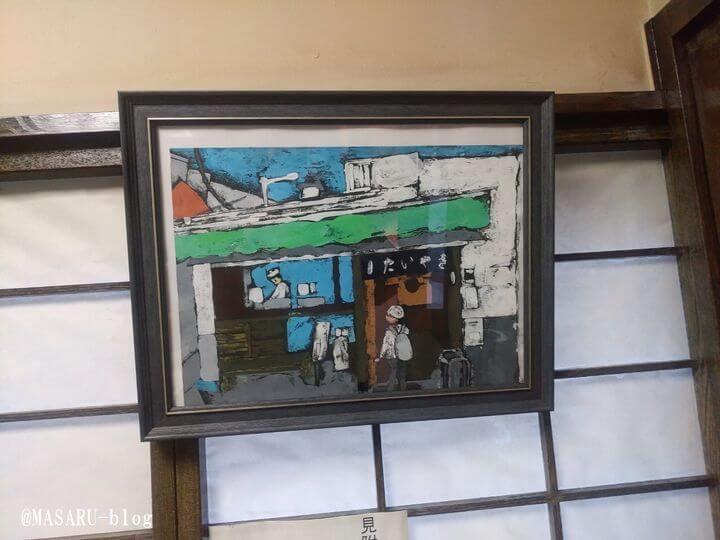 老舗の四ツ谷のわかばに飾れた絵画