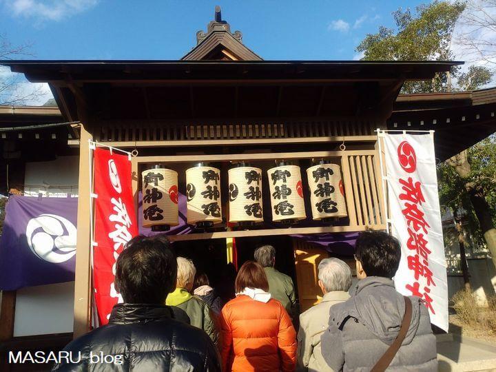 2020年茨木市佐奈部神社のお正月の風景