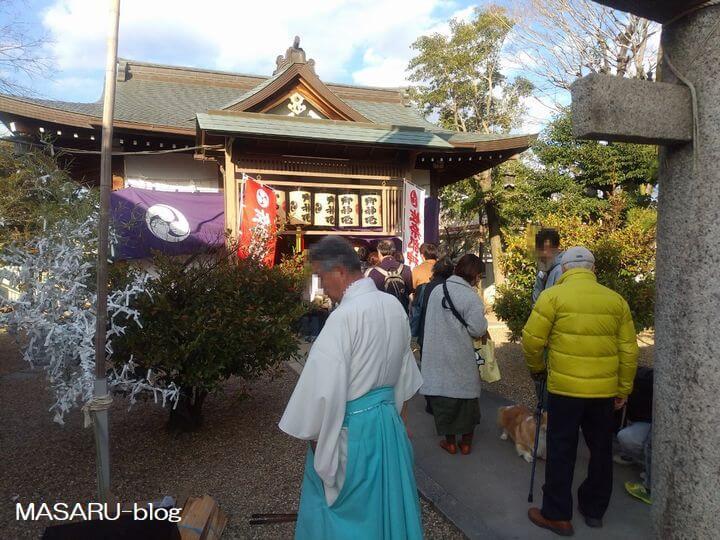 台風後の佐奈部神社