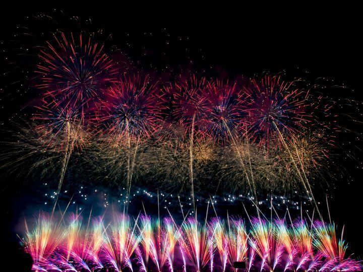 琉球海炎祭の花火