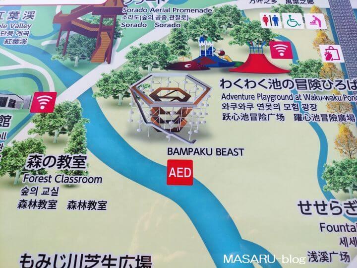 万博ビーストの地図