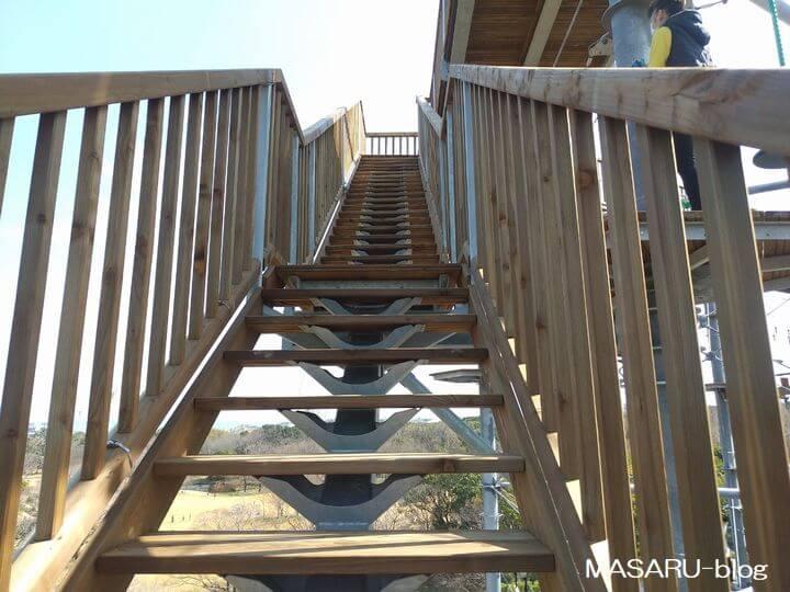 天空回廊(屋上展望台)の階段