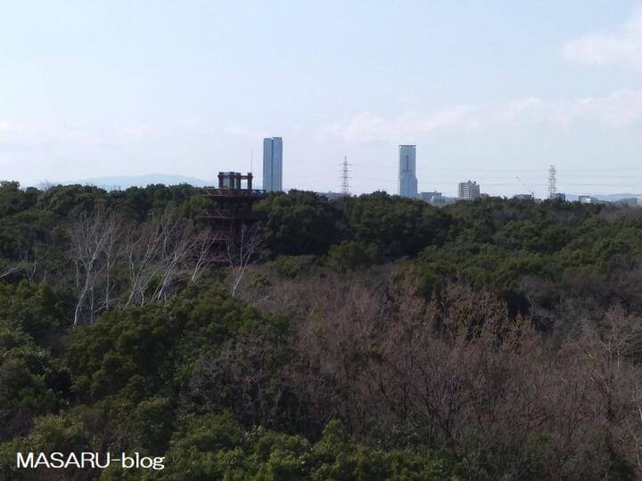 天空回廊からのビルの風景